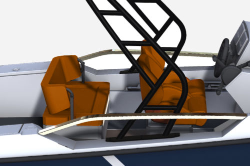 Saxdor Yachts - Side-by-side seating and sofa